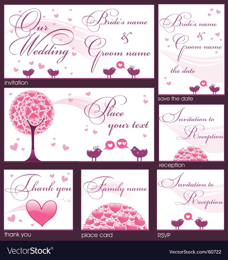 Reception Invitation Vector Image collections - Invitation Sample And Invitation Design