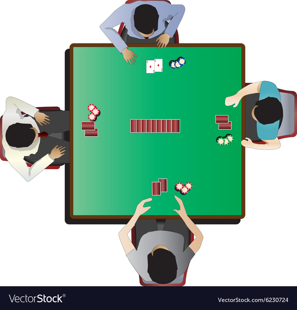Casino furniture Poker table top view set 7 Vector Image