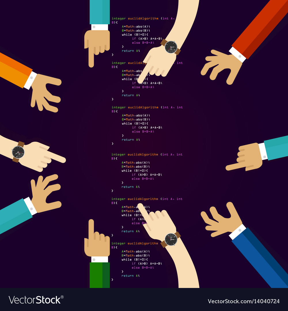 Open Source Software Coding Programming Royalty Free Vector