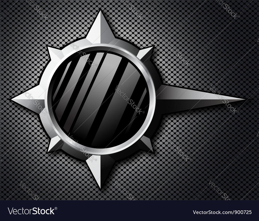 Metal template background vector image