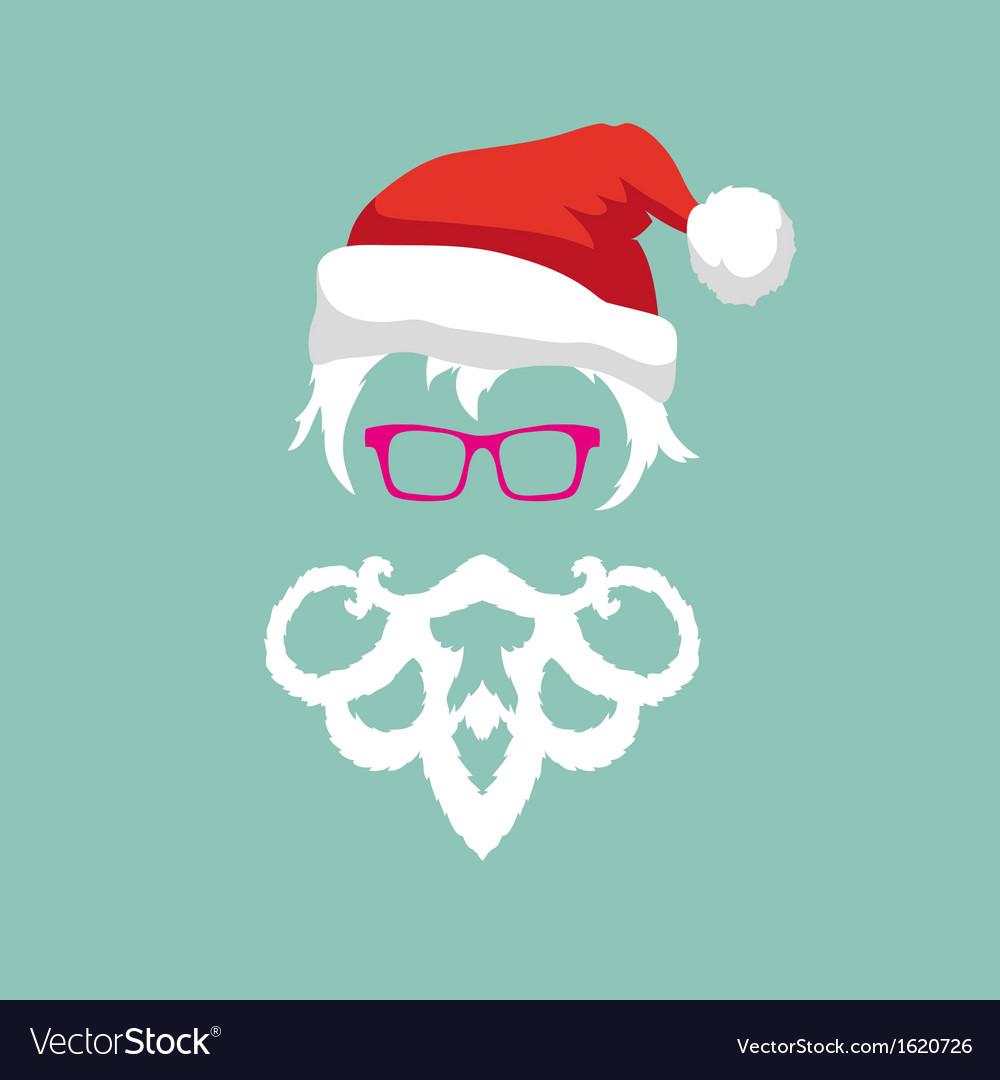 Santa claus hipster fashion style vector image