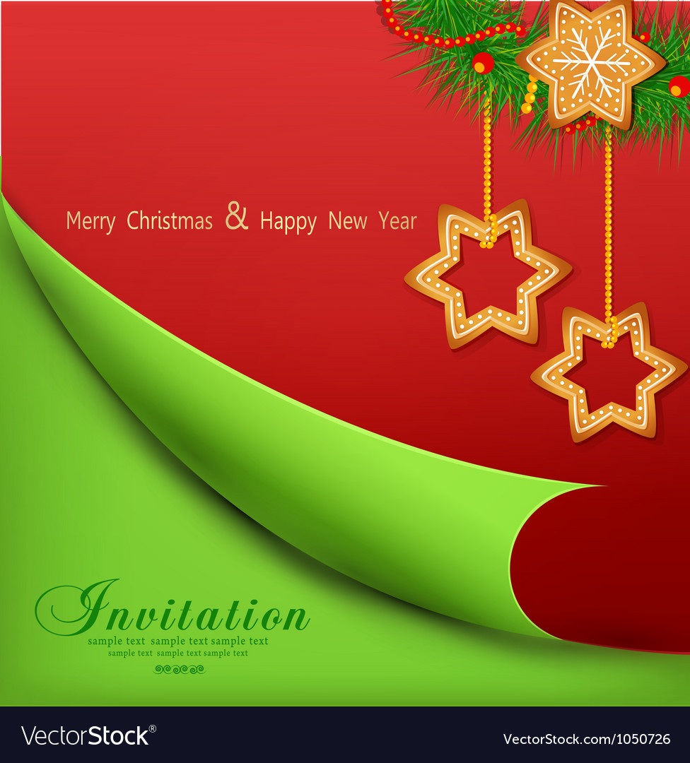 Christmas background with sweets vector image