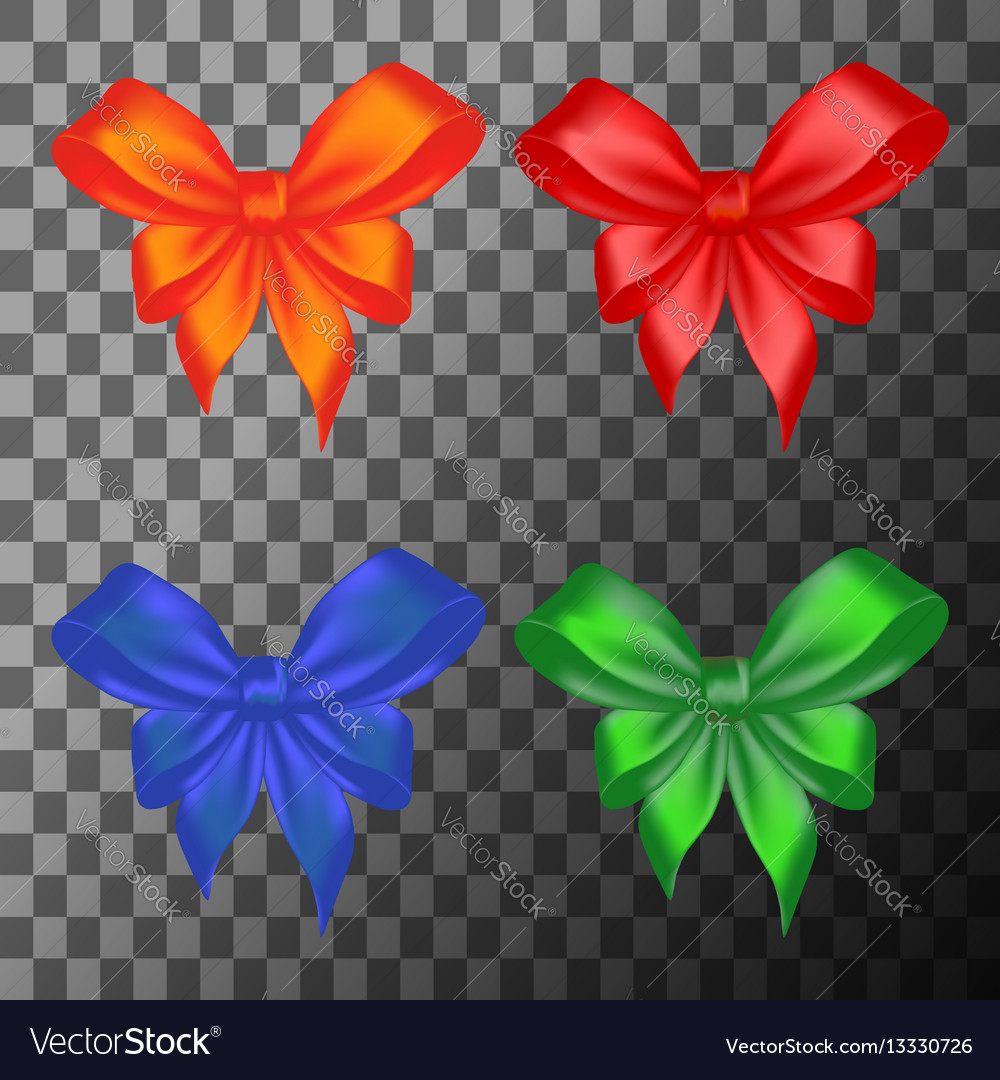 Colored bows set vector image