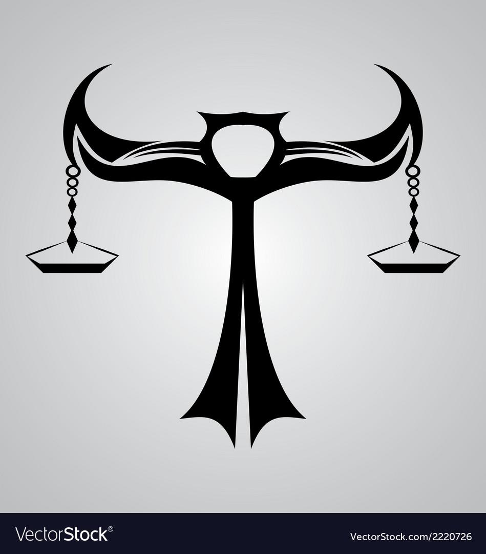 Libra signs tribal royalty free vector image vectorstock libra signs tribal vector image biocorpaavc Choice Image