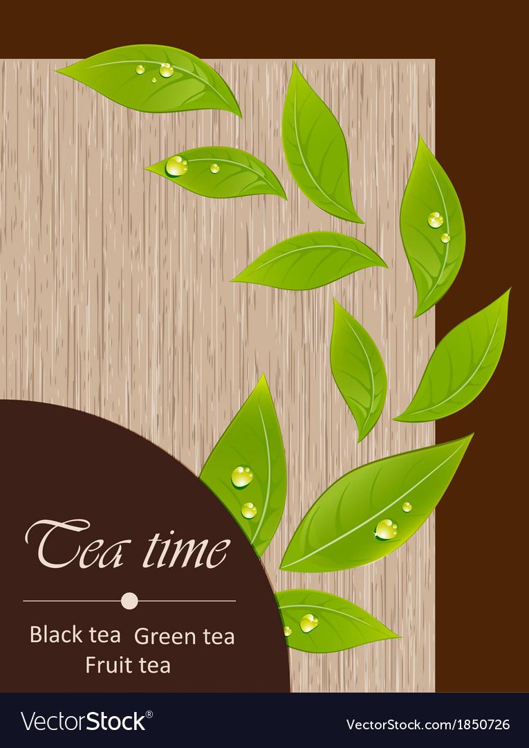 Template of a tea menu vector image