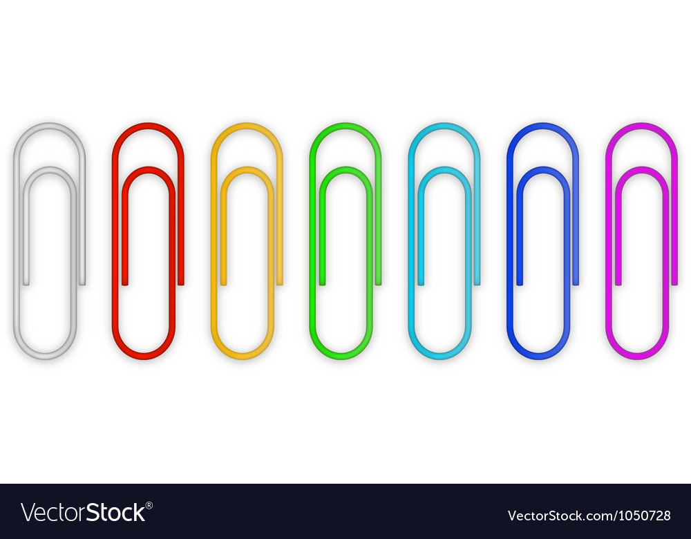 Paper clips set vector image