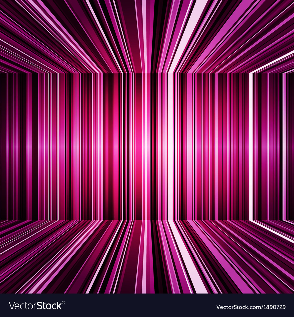 Abstract purple warped stripes background vector image