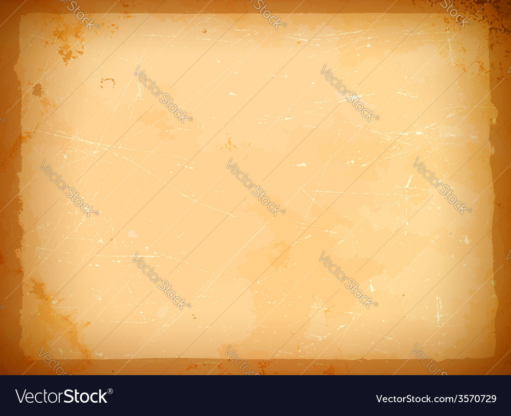 Aged paper frame vector image