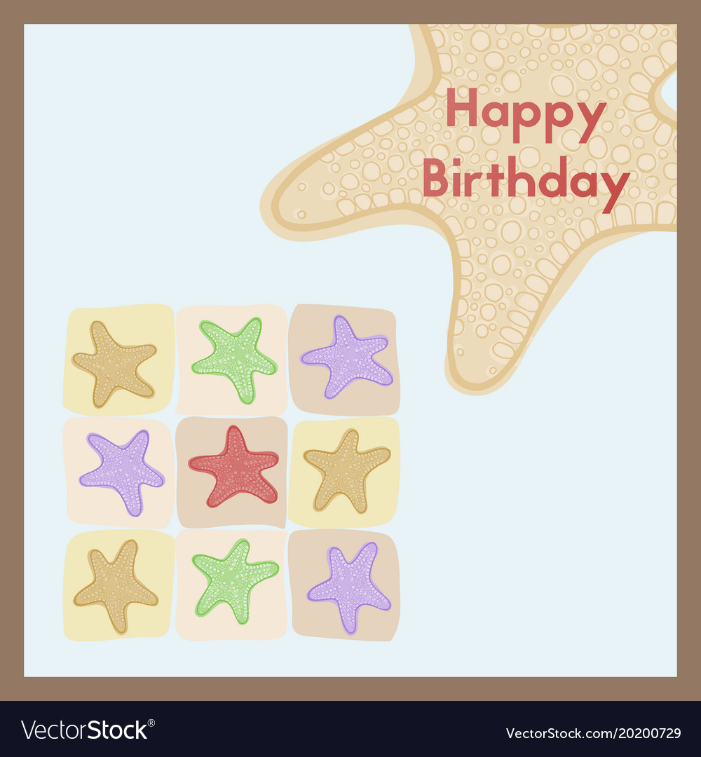 Happy birthday the birth greeting card is vector image m4hsunfo