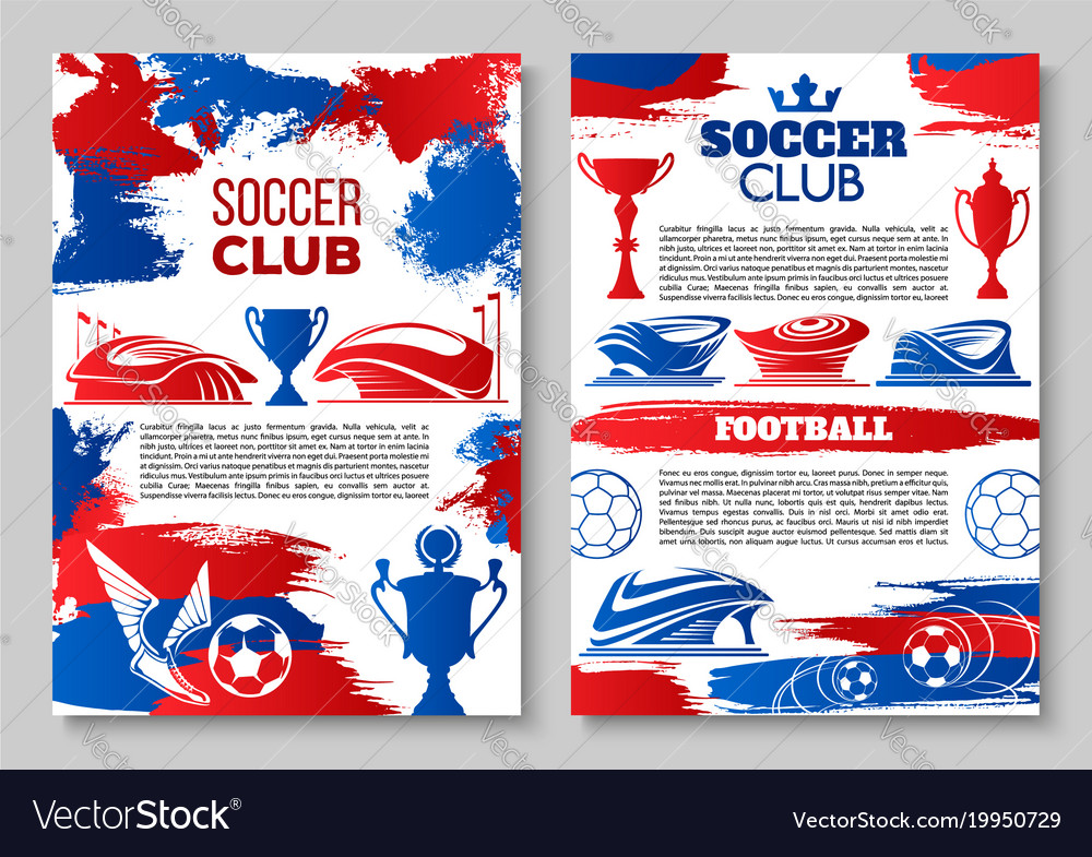 Soccer team or football club posters vector image