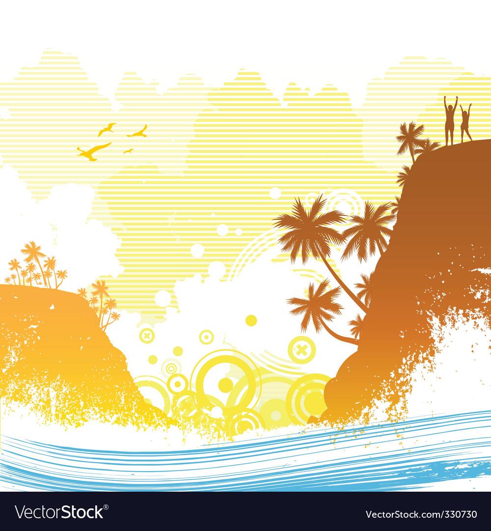 Exotic island vector image
