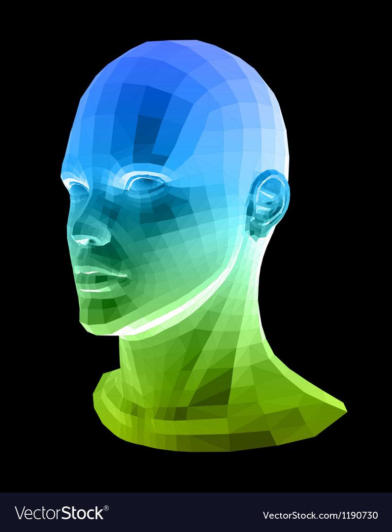 Human head Abstract vector image