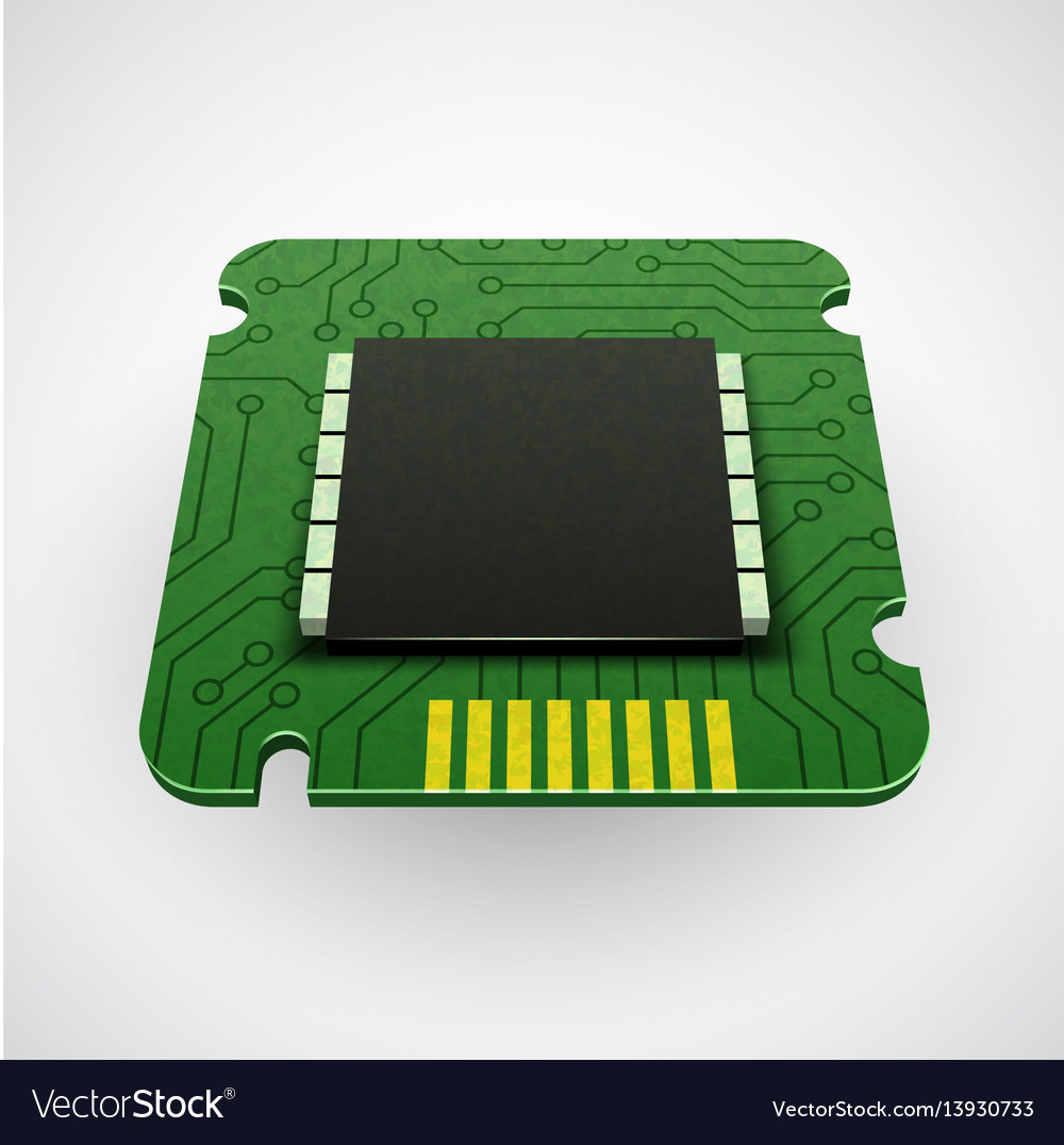 Computer chip or microchip vector image