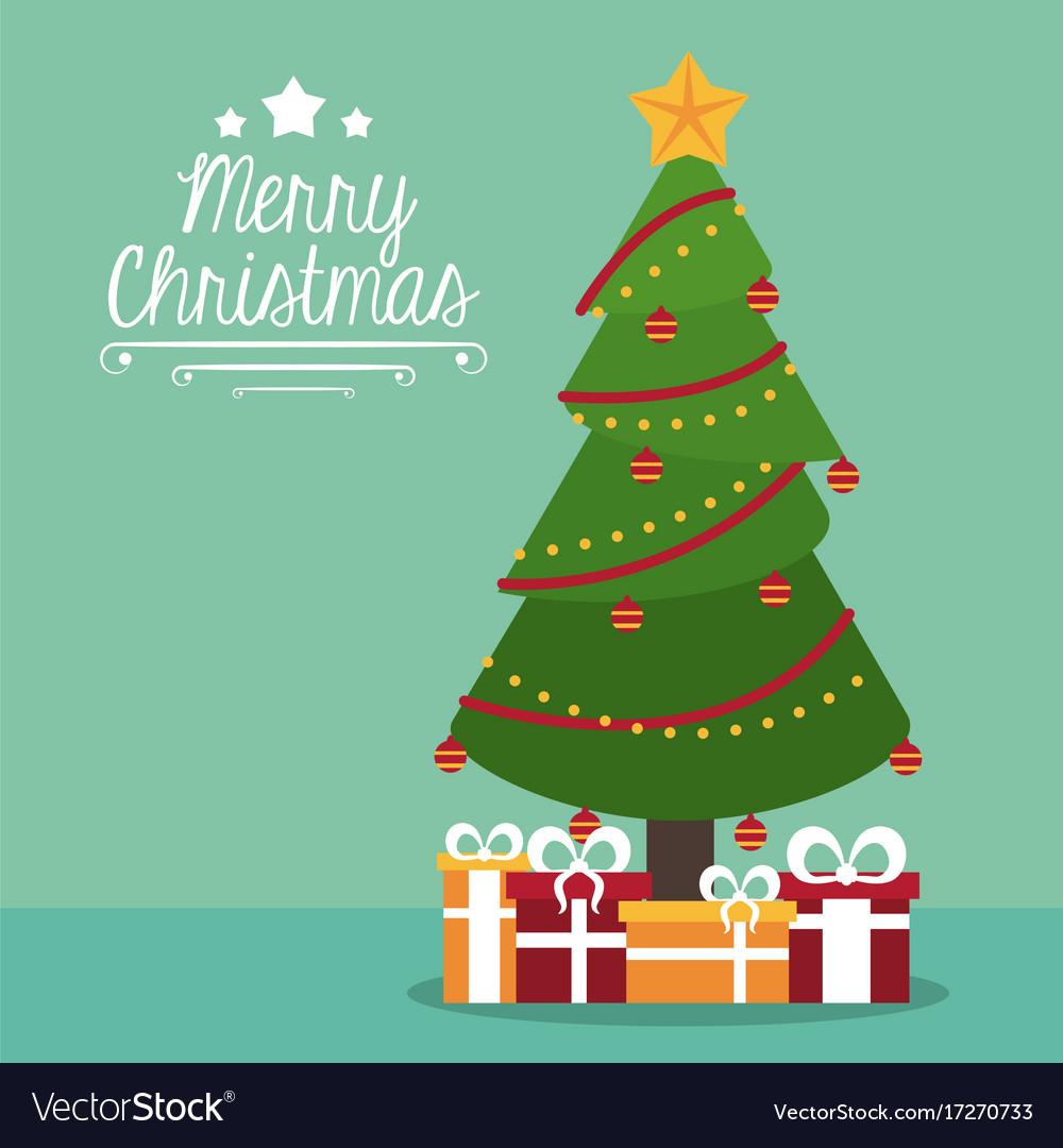 Merry Christmas Cute Card Vector Image Vector Image Nice Ideas