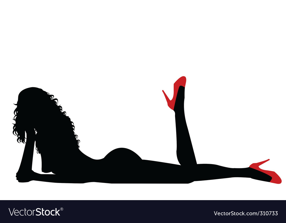 Naked sexy woman vector image