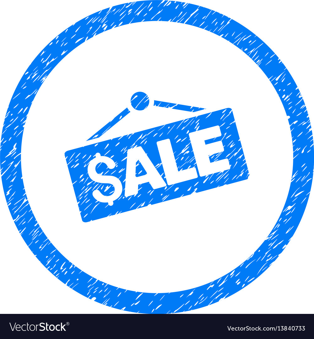 Sale signboard rounded grainy icon vector image