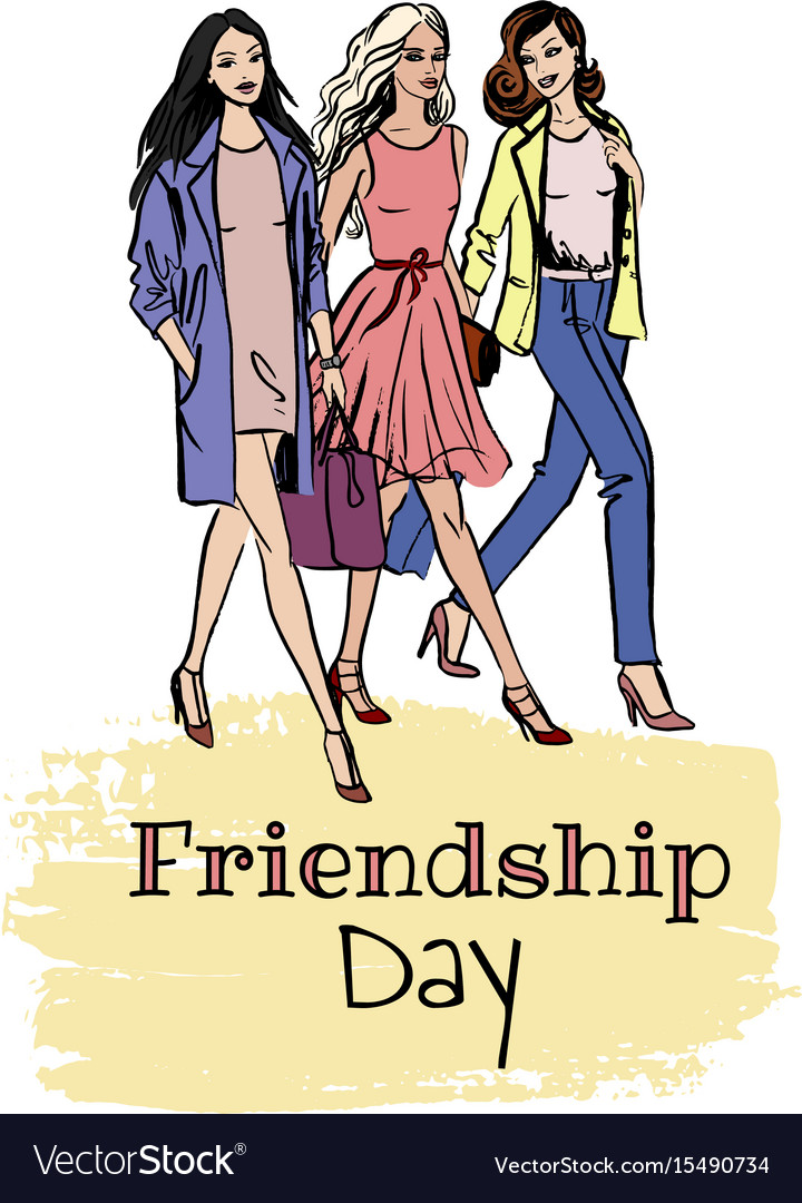 Friendship day card vector image