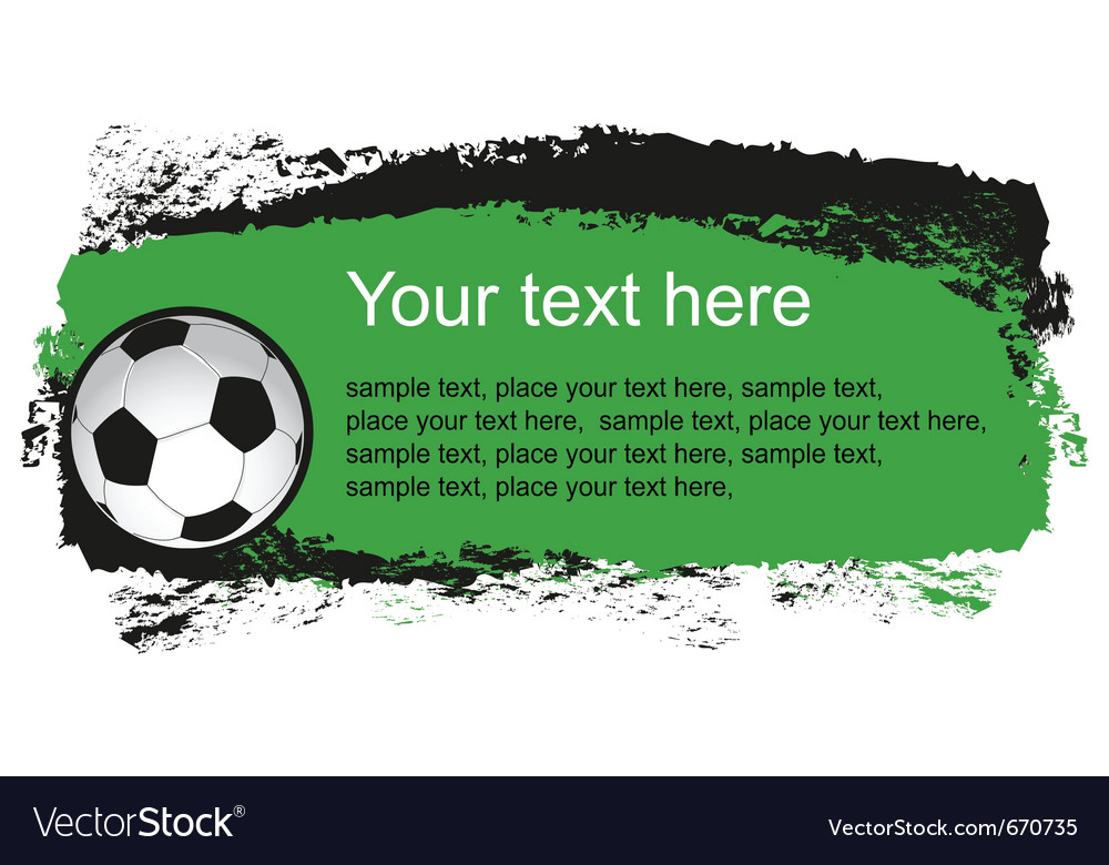 Color soccer ball vector image