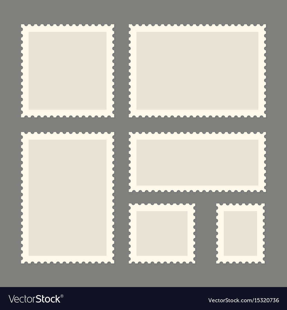 Postage stamps template vector image