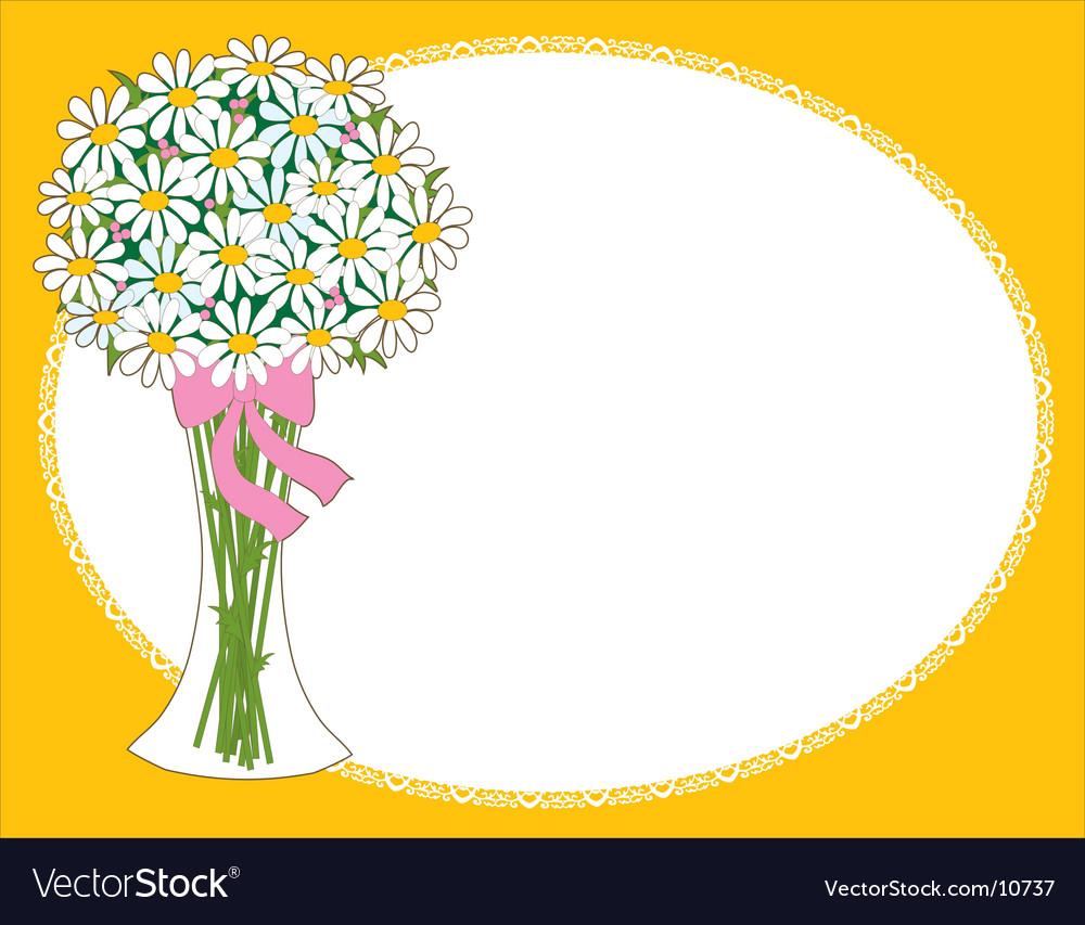 Daisy vase vector image