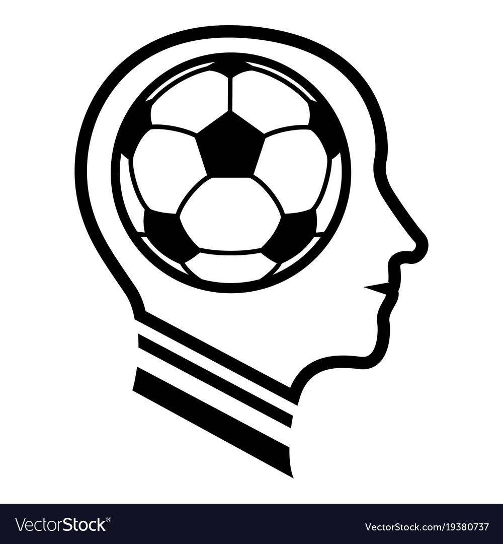 Football player icon simple black style vector image