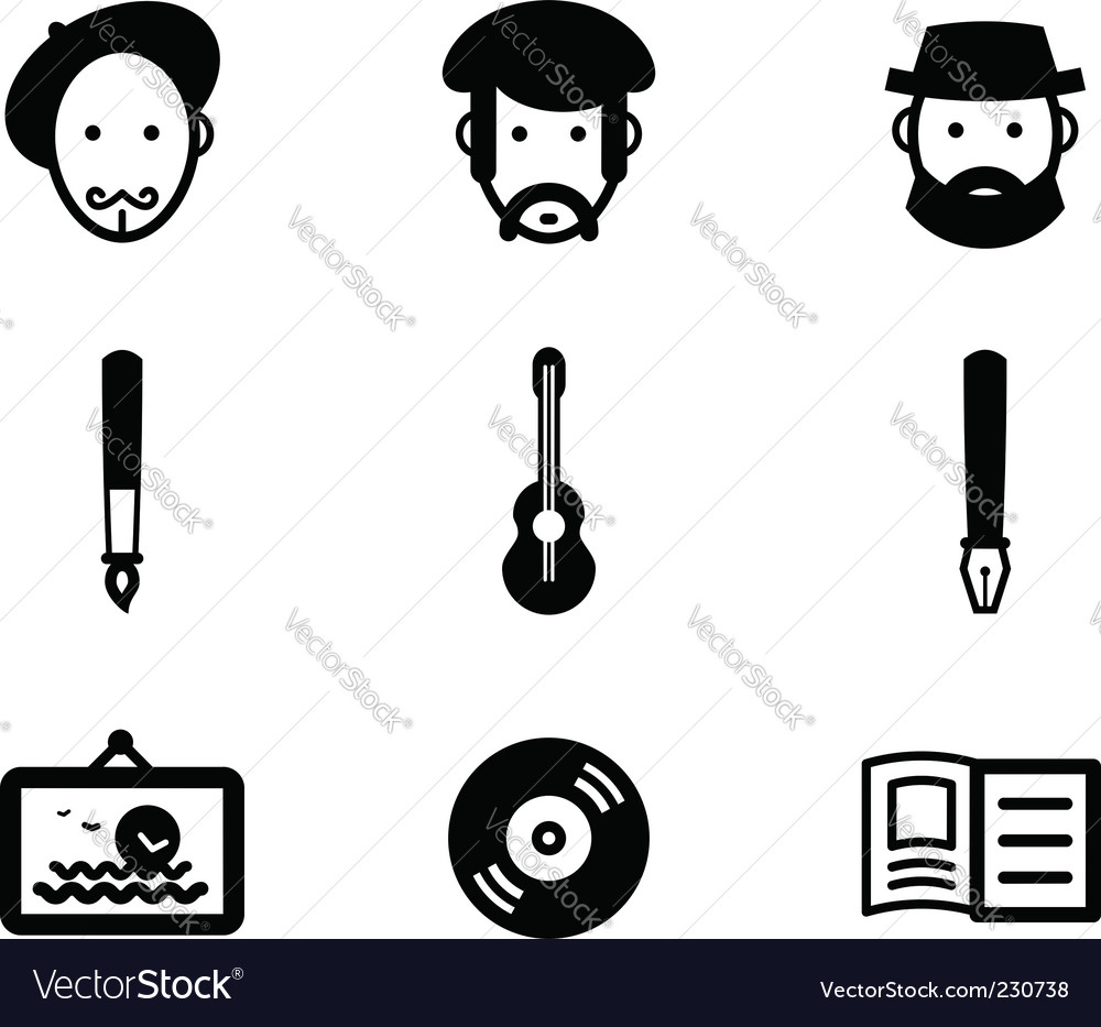 Authors vector image