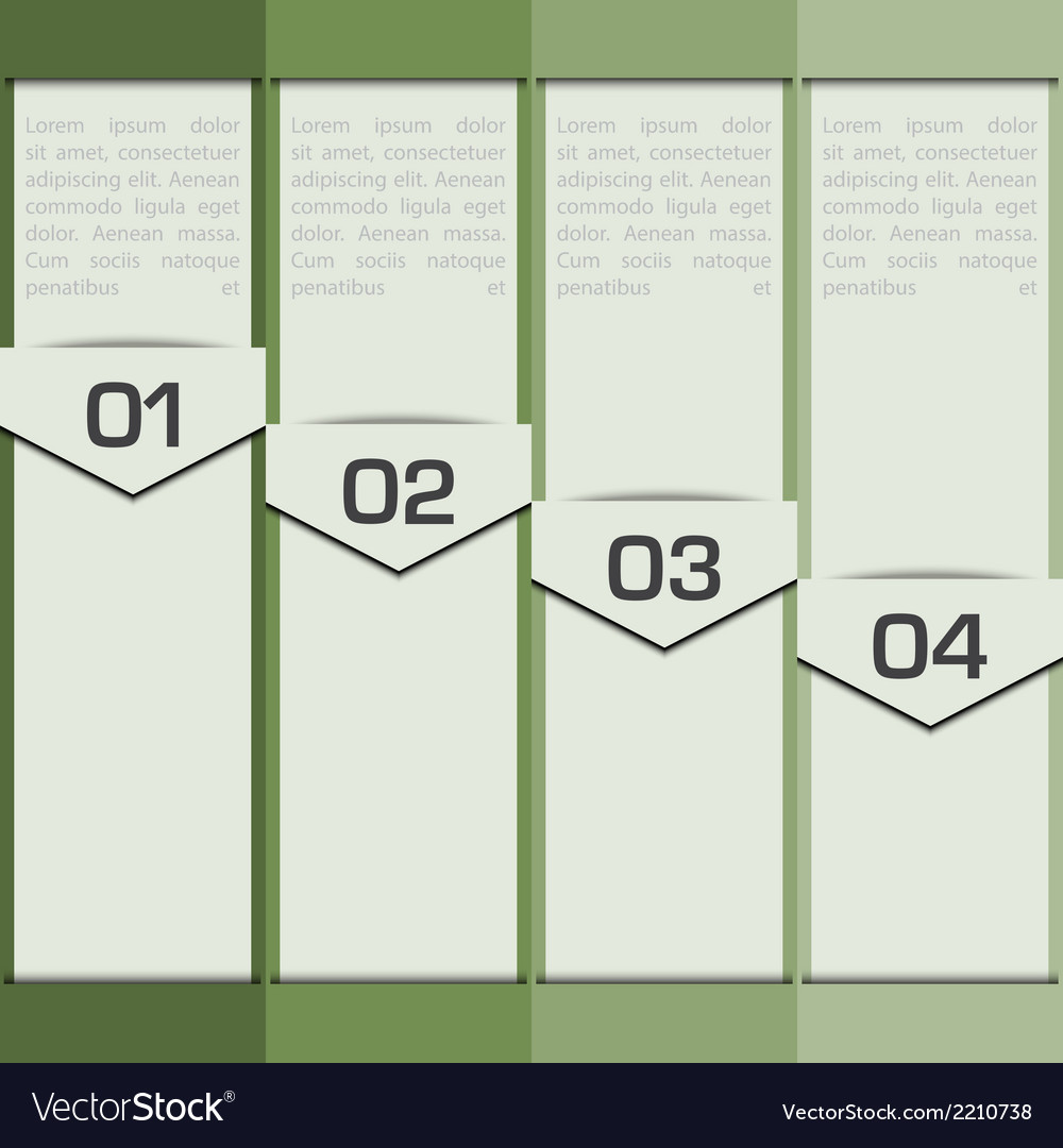 Modern Design Layout Infographic Elements vector image