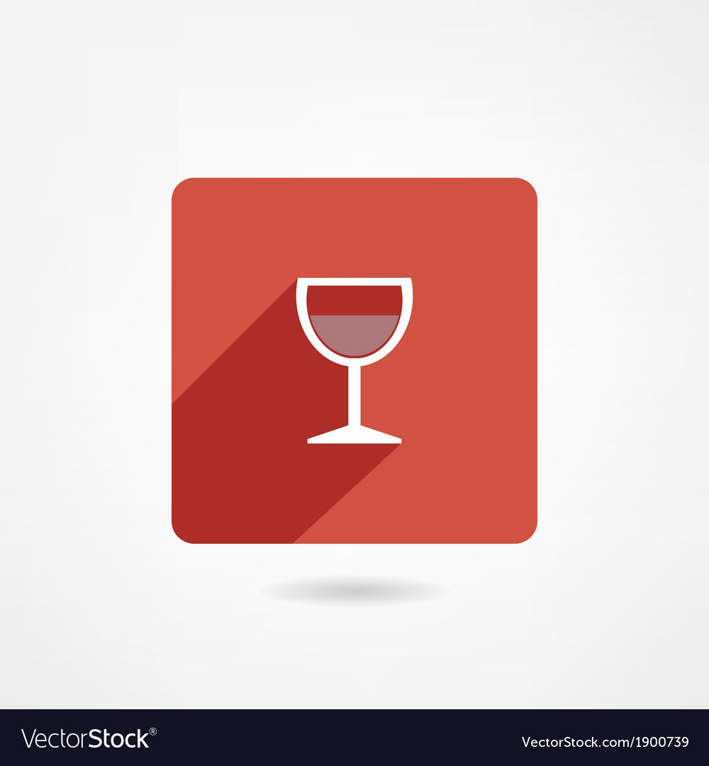 Glass icon vector image