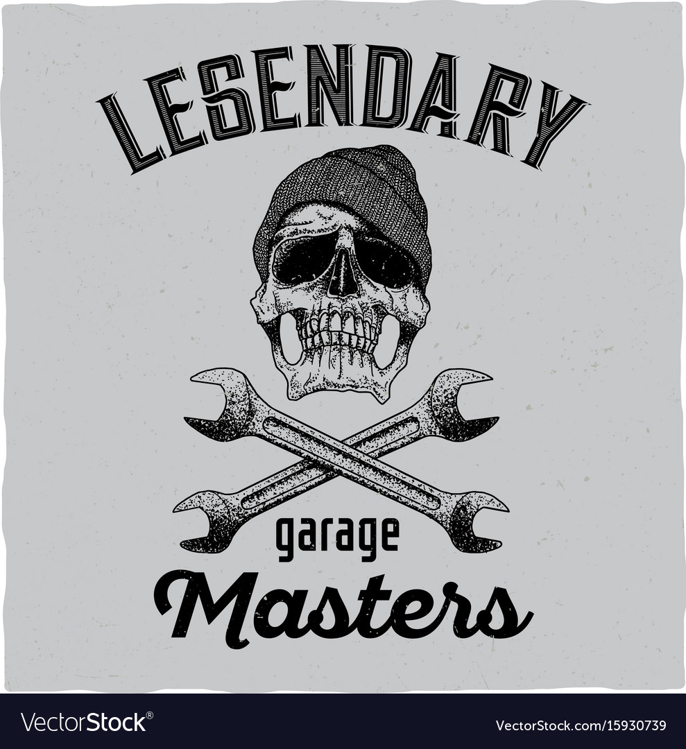 Legendary garage masters poster vector image