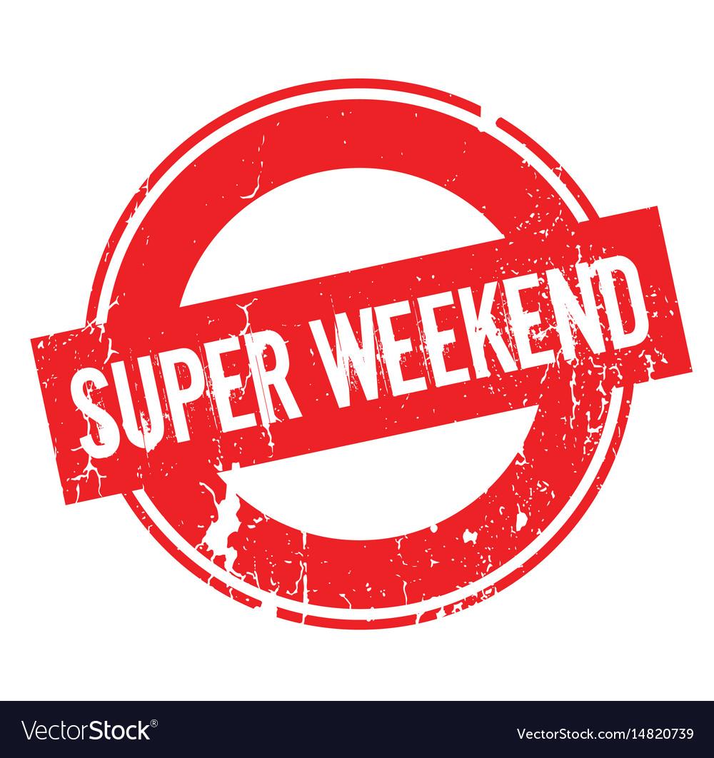 Super weekend rubber stamp vector image