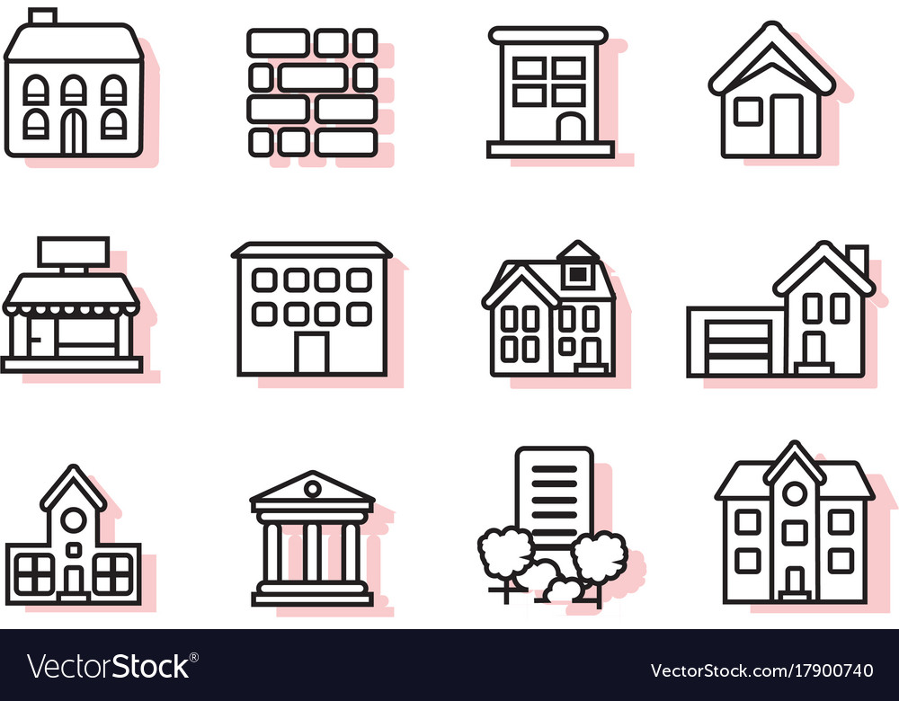 Construction icon sets vector image