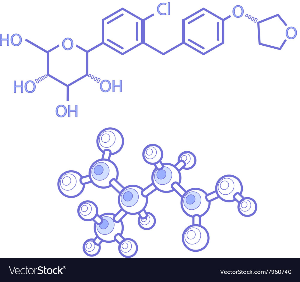 Structures of molecules abstract vector image