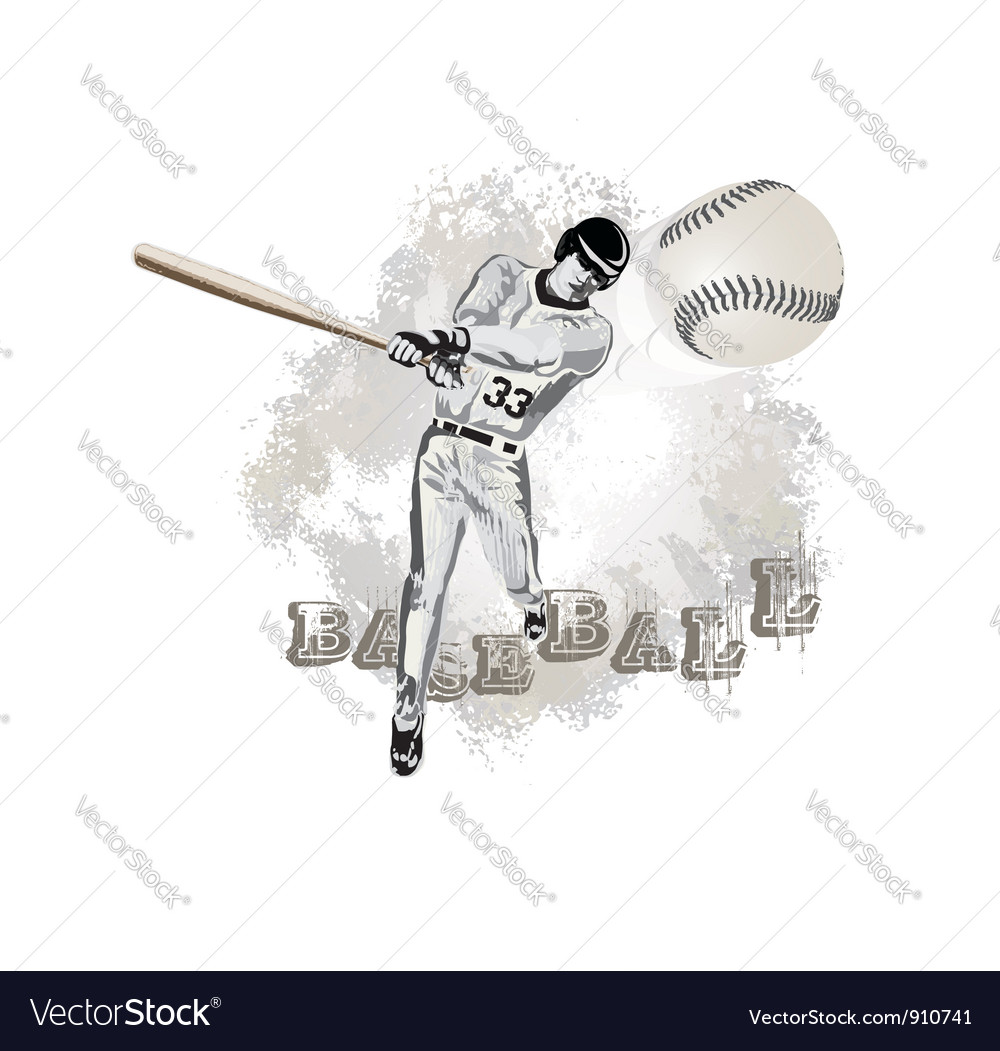 Base ball player vector image