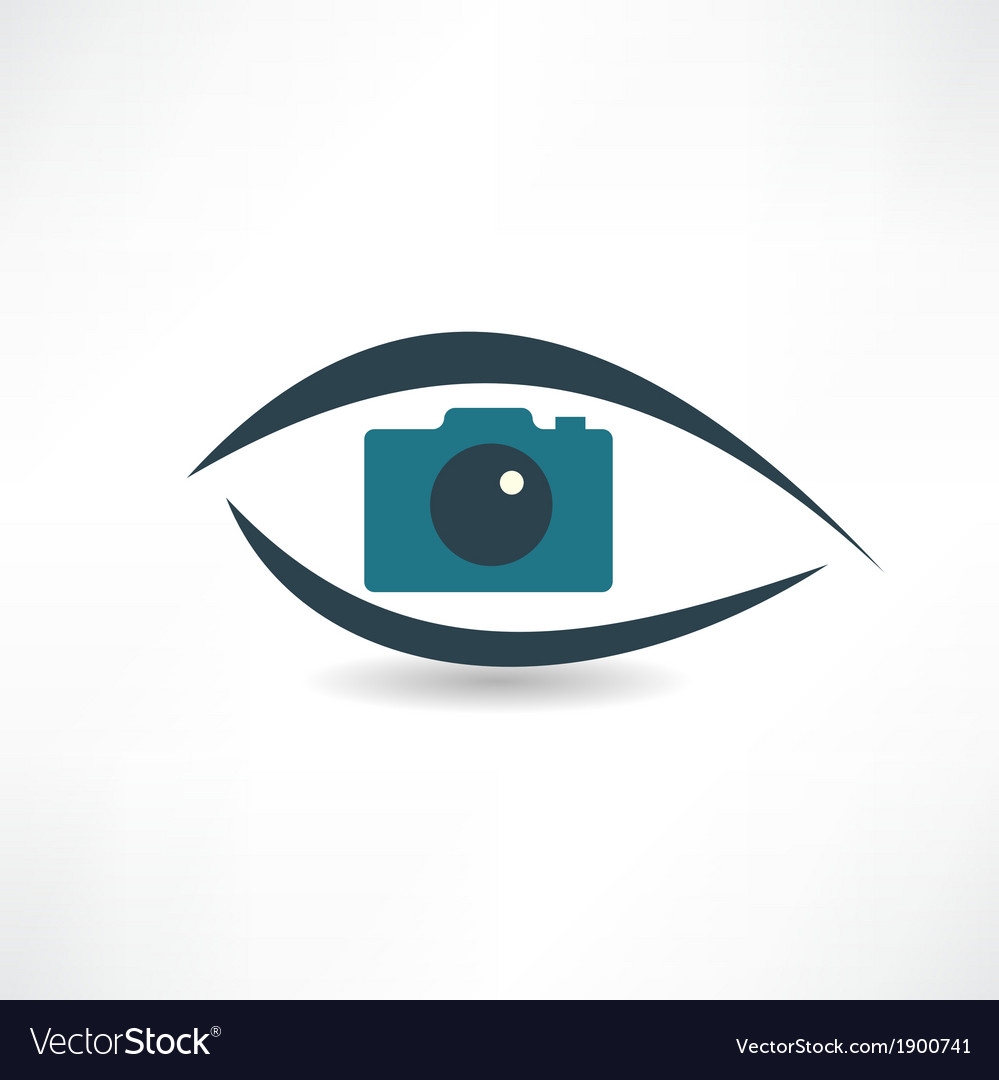 Photographer abstraction operation icon vector image