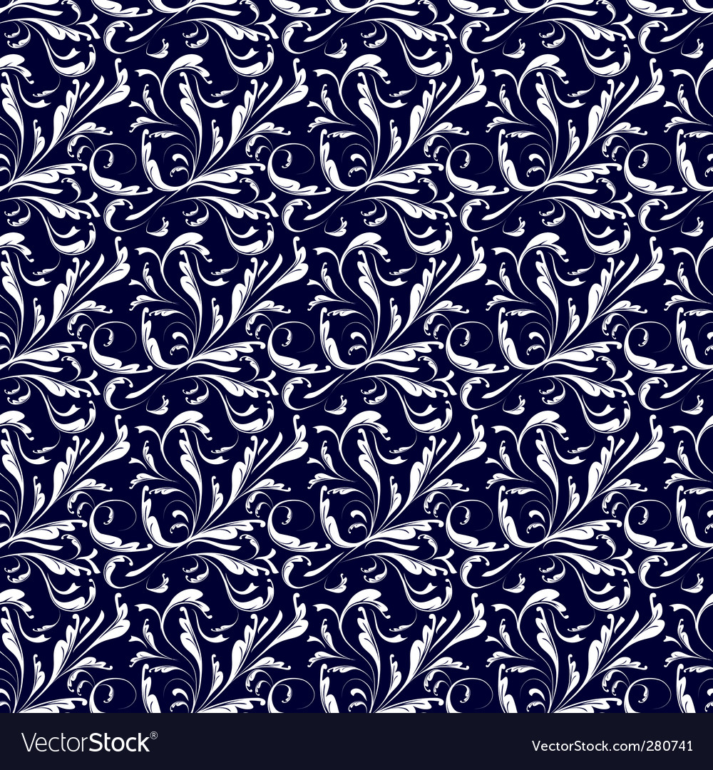 Seamless background blue and white vector image