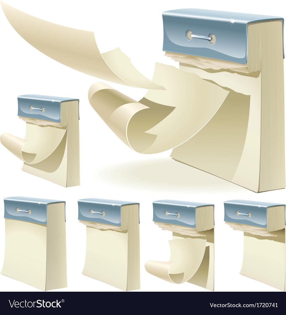 Set of paper tear off calendar vector image