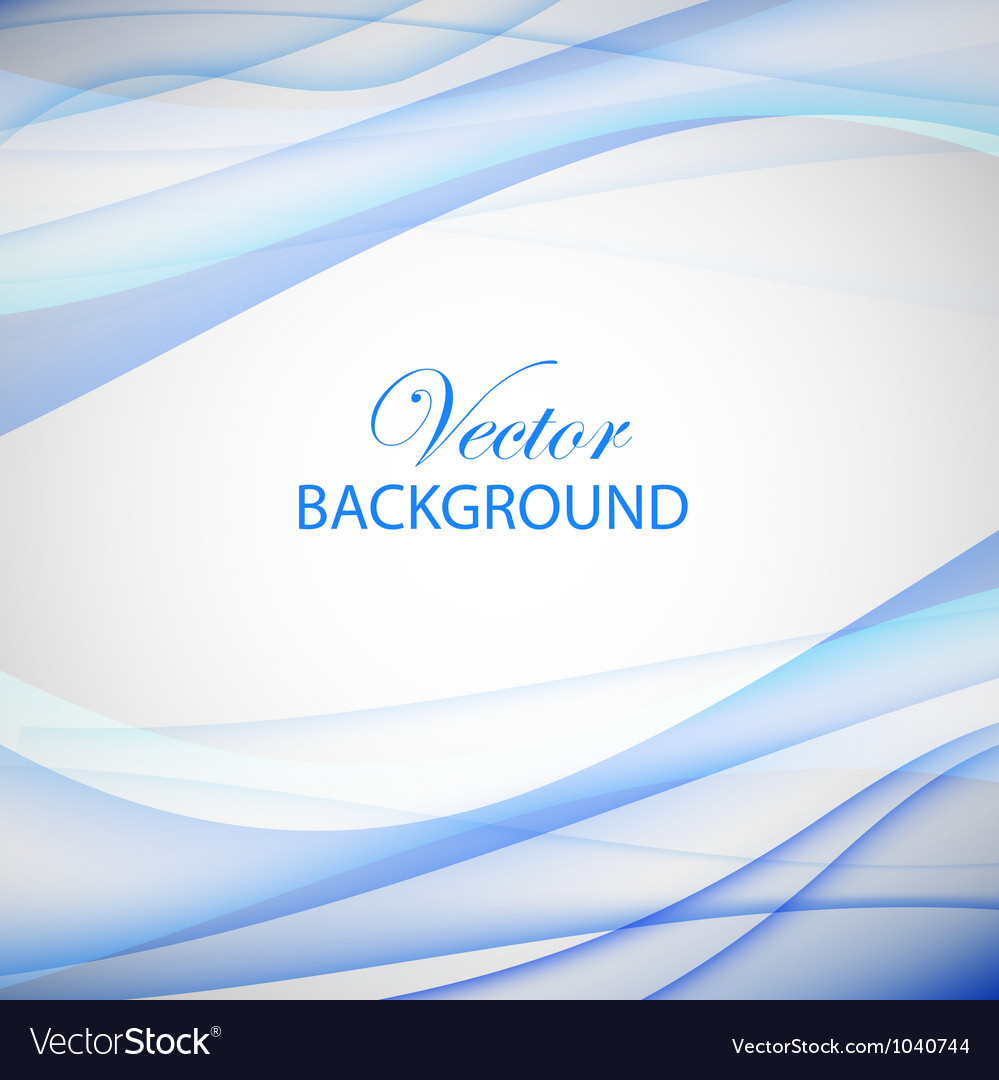Colorful blue wave vector image
