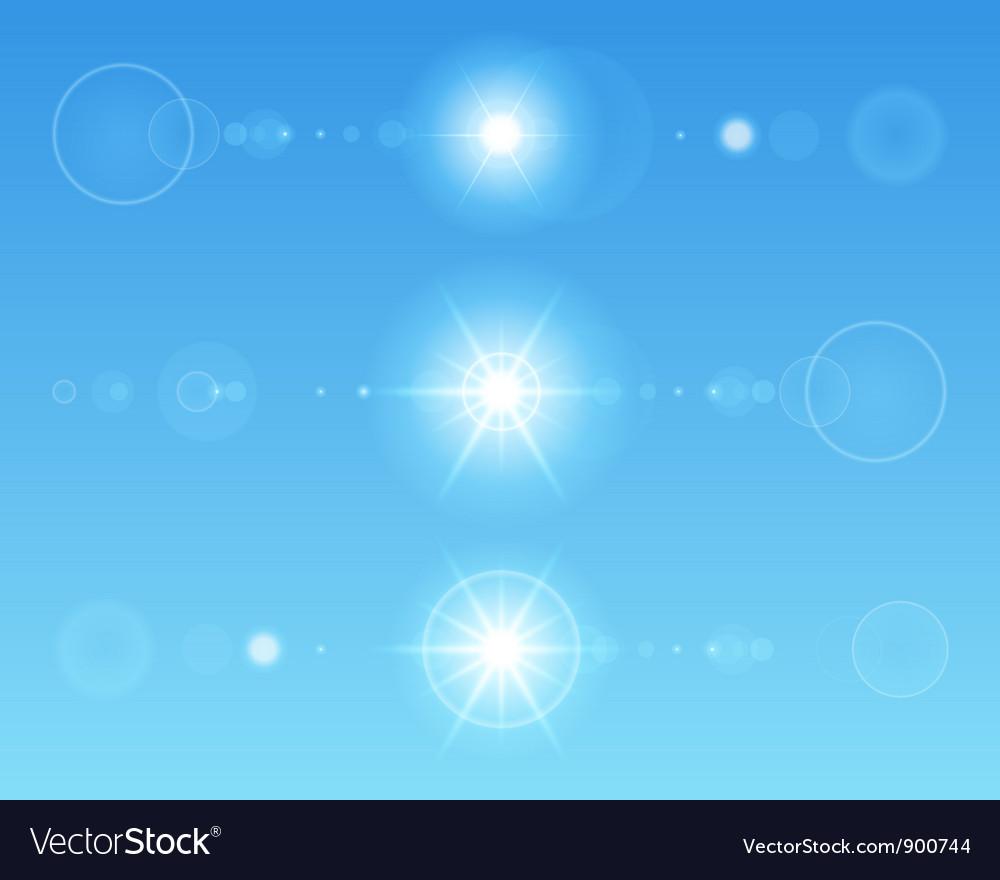 Lens flare set vector image