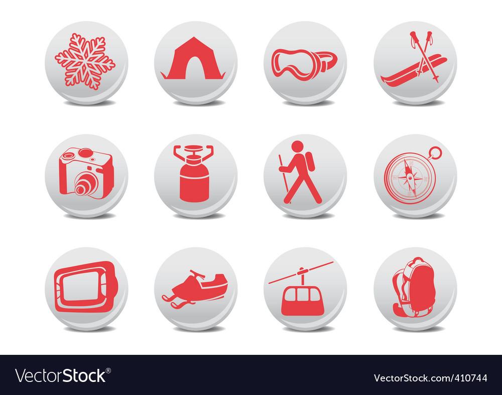 Camping symbols vector image