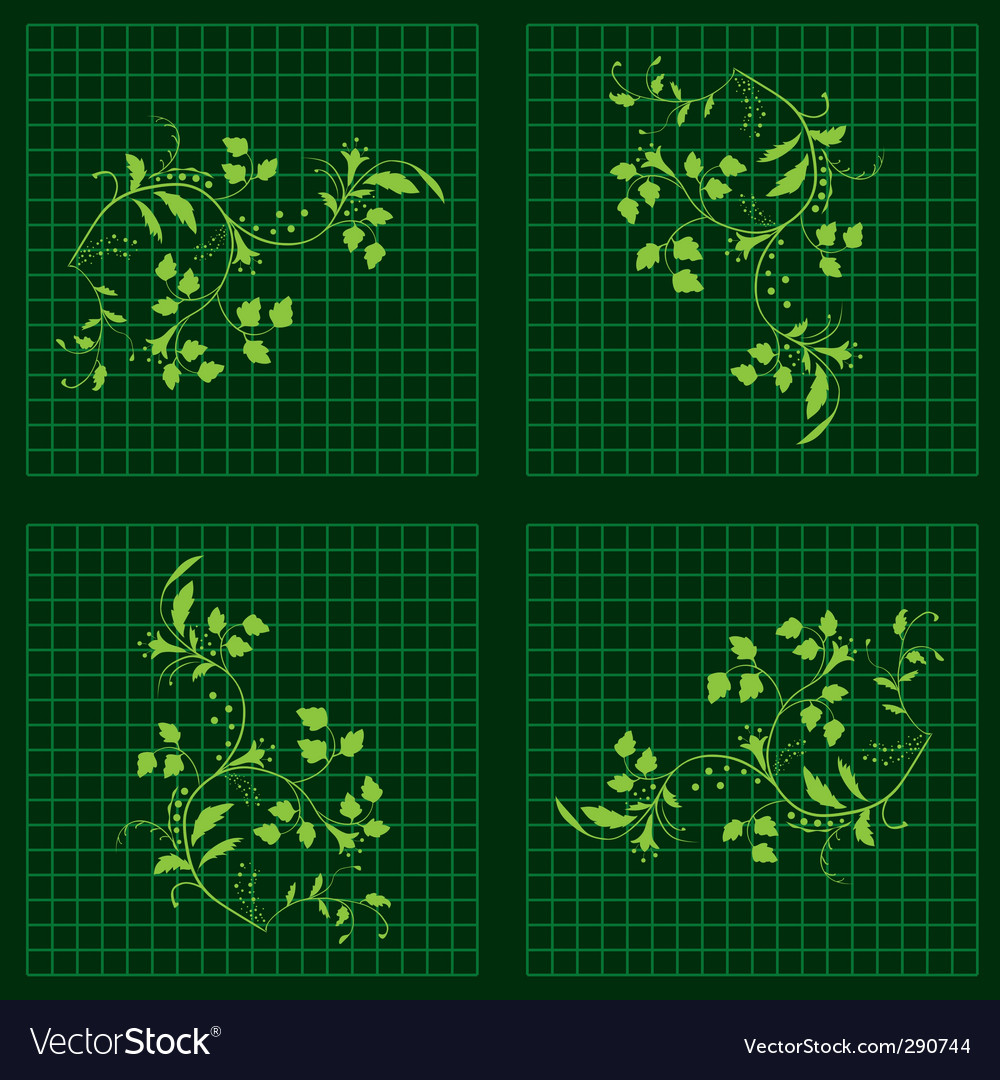 Seamless background with green plants vector image