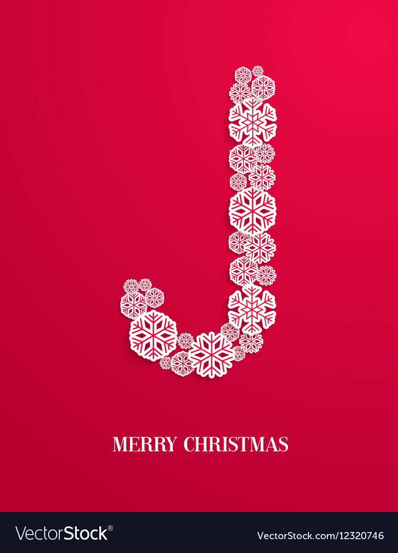 Candy cane made of paper snowflakes vector image