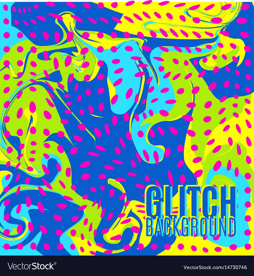 Glitch background vector image