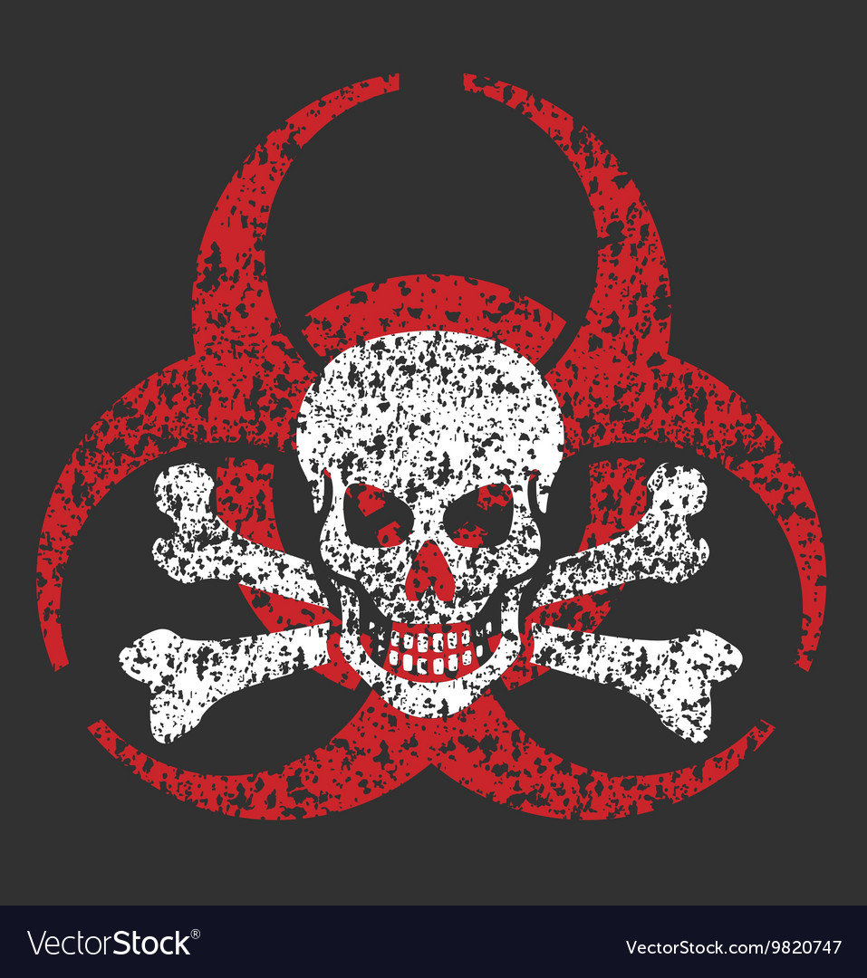 Biohazard skull symbol vector image