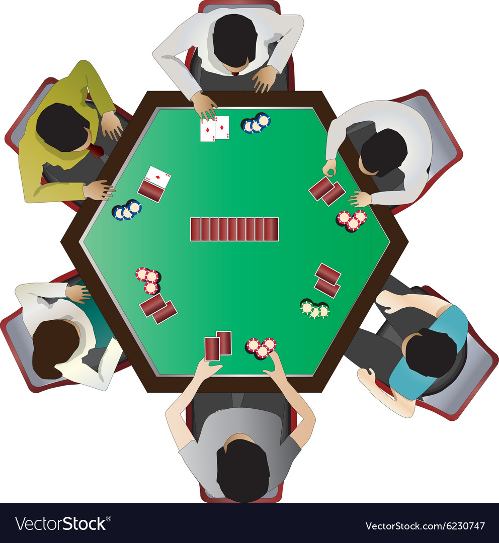 Casino furniture Poker table top view set 10 Vector Image
