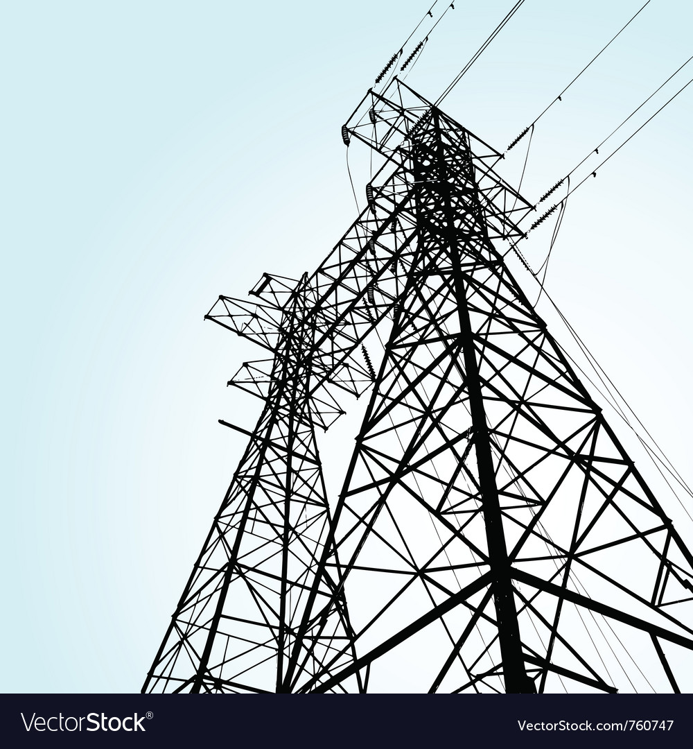 Transmission tower vector image