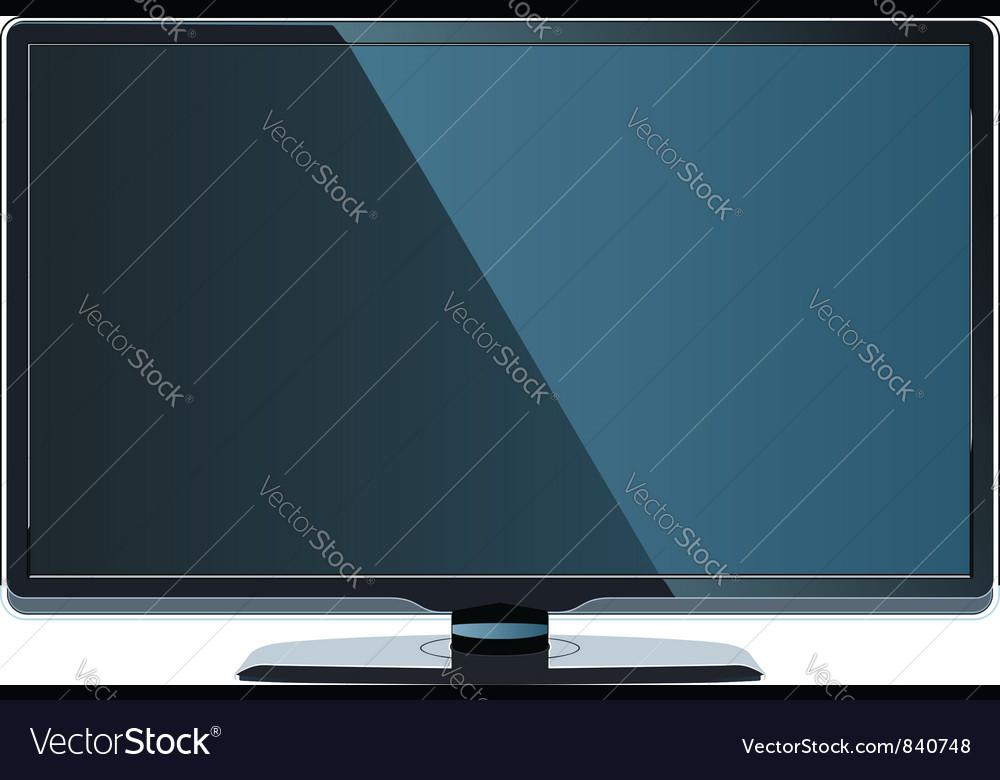 Big Flat Monitor Vector Image