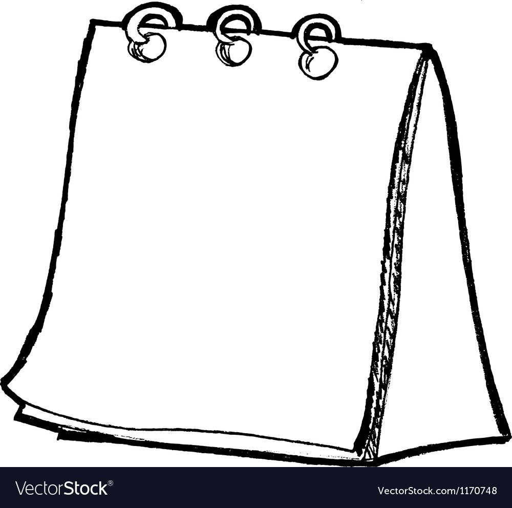Blank Calendar Vector : Blank calendar royalty free vector image vectorstock