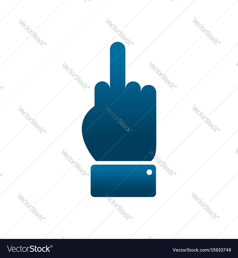 Sign aggression symbol middle finger off vector image sign aggression symbol middle finger off vector image buycottarizona