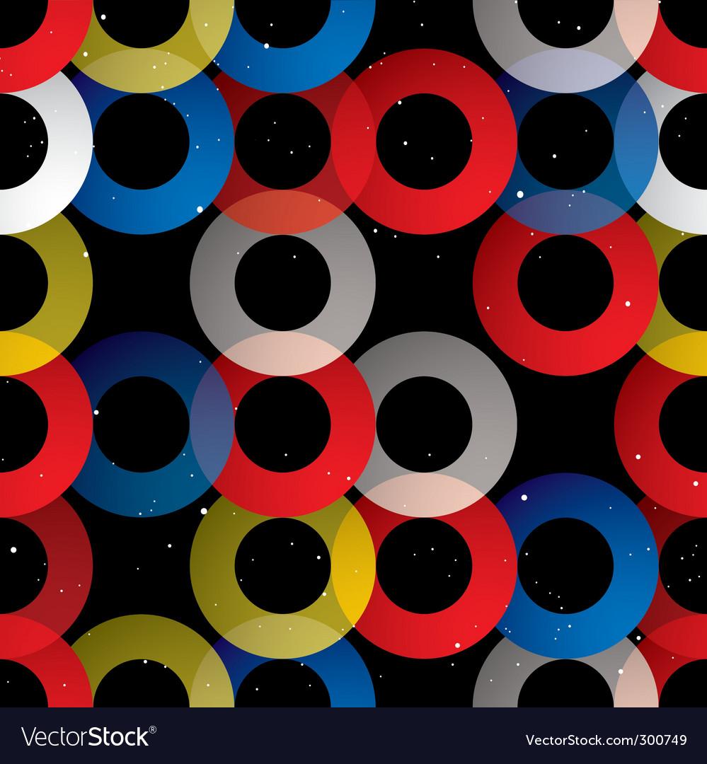 Circular seamless tile black vector image