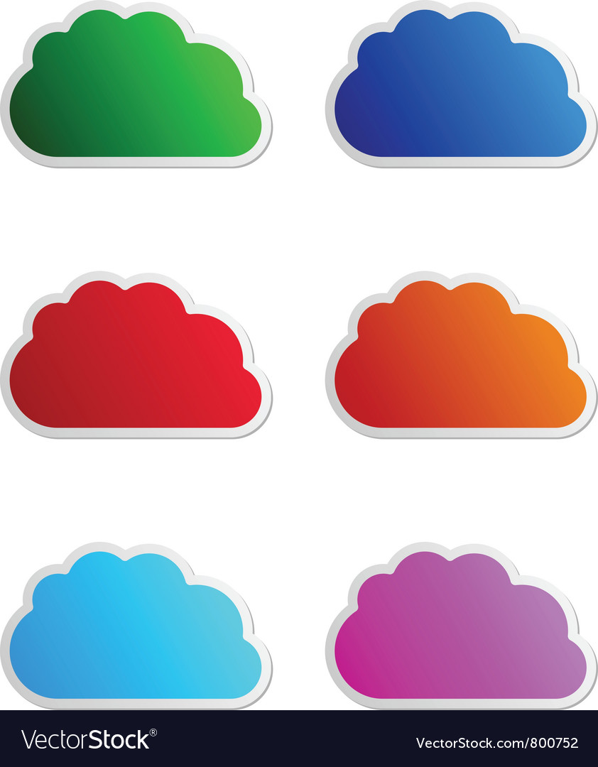 Cloud labels vector image